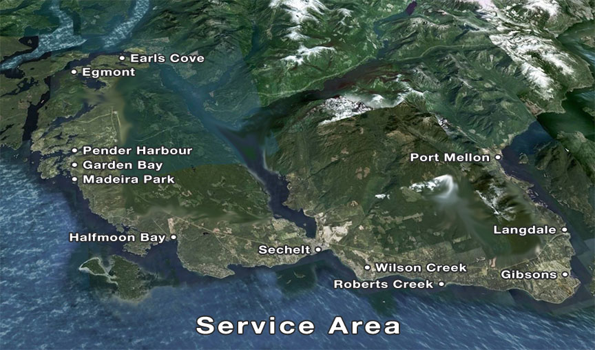 Excavation-Excavating-Sunshine Coast-BC-Service-Area